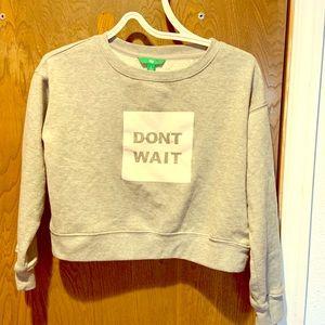 Juniors sweatshirt crop top